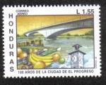 Sellos de America - Honduras -  100 Años de La Ciudad de El Progreso