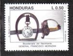 Sellos del Mundo : America : Honduras : Bicentenario del Nacimiento GENERAL FRANCISCO MORAZAN