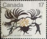 Stamps : America : Canada :  Intercambio 0,20 usd 17 cent 1980