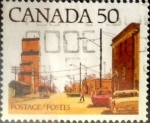 sello : America : Canadá : Intercambio 0,20 usd 50 cent 1978