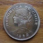 monedas de America - Chile -  MONEDA CHILE CIEN PESOS, DIEZ CONDORES (reverso)