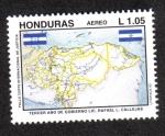 Stamps Honduras -  Tercer Año de Gobierno Lic. Rafael Leonardo Callejas