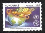 Sellos del Mundo : America : Honduras :  Conferencia Internacional sobre Nutrición
