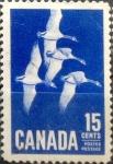 Sellos de America - Canadá -  Intercambio 0,20 usd 15 cent 1963