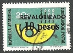 Stamps : America : Argentina :  CODIFICACION POSTAL REVALORIZADO