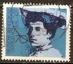 Sellos de Europa - Alemania -  Baronesa Gertrud von Le Fort (1876-1971), católico escritor alemán.