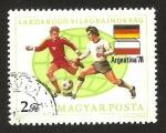 Sellos de Europa - Hungría -  Campeonato mundial de fútbol Argentina 1978, Alemania Polonia