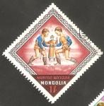 Sellos de Asia - Mongolia -  Deporte nacional