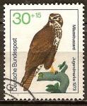 Sellos de Europa - Alemania -  Marca juvenil en 1973, las aves de rapiña.Hálcon.