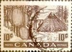 Sellos de America - Canadá -  Intercambio 0,20 usd 10 cent 1950