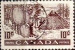 Stamps Canada -  Intercambio 0,20 usd 10 cent 1950