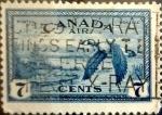 Stamps : America : Canada :  Intercambio jlm 0,20 usd 7 cent 1946