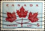 sello : America : Canadá : Intercambio crf 0,20 usd 5 cent 1964