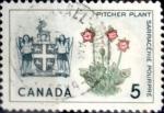 sello : America : Canadá : Intercambio crf 0,20 usd 5 cent 1966