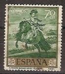 Sellos de Europa - España -  ESPAÑA SEGUNDO CENTENARIO USD Nº 1242 (0) 70C VERDE VELAZQUEZ