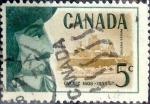 sello : America : Canadá : Intercambio 0,20 usd 5 cent 1958