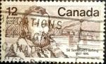 Stamps : America : Canada :  Intercambio 0,20 usd 12 cent 1977