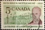 sello : America : Canadá : Intercambio crf 0,20 usd 5 cent 1962