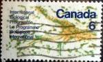 sello : America : Canadá : Intercambio crf 0,20 usd 6 cent 1970