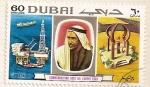 Sellos de Asia - Emiratos Árabes Unidos -  Conmemoracion de la 1ª exportacion de petroleo