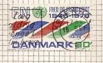 Stamps Denmark -  25 Aniversario de las Naciones Unidas