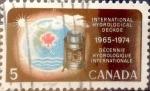 sello : America : Canadá : Intercambio crf 0,20 usd 5 cent 1968