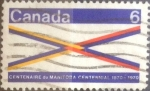 Stamps Canada -  Intercambio 0,20 usd 6 cent 1970