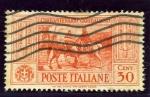 Sellos de Europa - Italia -  50 Aniversario de la muerte de Garibaldi. Reencuentro de Victor Manuel y Garibaldi