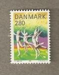 Stamps Europe - Denmark -  Gimnasia