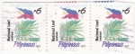 Stamps : Asia : Philippines :  Planta filipina y bandera nacional