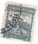 Stamps Czechoslovakia -  Panorámica de Pernstyn