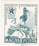 Stamps Hungary -  Compendio de ferrocarril internacional