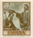 Stamps Spain -  80 céntimos 1962