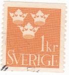Stamps Sweden -  3 coronas