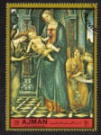 Stamps United Arab Emirates -  Ajman, Virgin and Baby