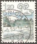 Stamps Switzerland -  ARIES  Y  PAISAJE  DE  GRAUSTOCK