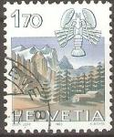 Stamps Switzerland -  CANCER  Y  PAISAJE  DE  WETTERHORN