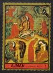 Stamps United Arab Emirates -  Ajman, Nativity
