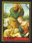 Stamps United Arab Emirates -  Ajman, The Holy Family