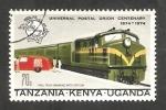 Sellos del Mundo : Africa : Kenya :   Centº del U.P.U., tren
