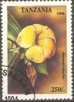 Stamps Tanzania -  FLORES.  ALLAMANDA  CATHARTICA.