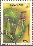 Sellos de Africa - Tanzania -  FLORES.  NEPHENTES  HYBRIDA.