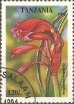 Sellos de Africa - Tanzania -  FLORES.  CYRTANTHUS  MINIMIFLORUS.