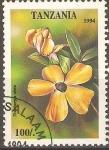 Sellos de Africa - Tanzania -  FLORES.  THUNBERGIA  ALATA.