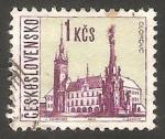 Stamps Czechoslovakia -   1522 - Vista de Olomouc
