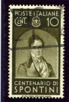 Stamps Italy -  Hombres Ilustres. Spontini