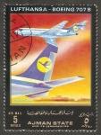 Sellos de Asia - Emiratos Árabes Unidos -  Ajman - Lufthansa, Boeing 707 B