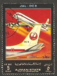 Stamps United Arab Emirates -  Ajman - JAL, DC 8