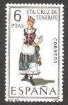 Sellos de Europa - España -   1953 - Traje típico de Santa Cruz de Tenerife