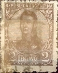Sellos de America - Argentina -  Intercambio 0,30 usd 2 cent. 1908